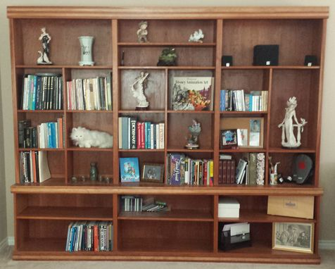 Custom Made Cherry Wood Bookcase