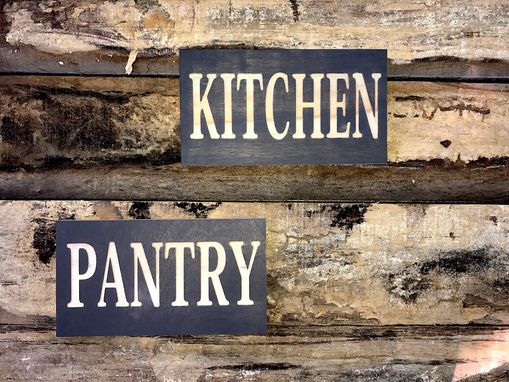 Custom Made Pantry Wooden Sign | Farmhouse Sign | Kitchen Pantry Sign | Rustic Decor