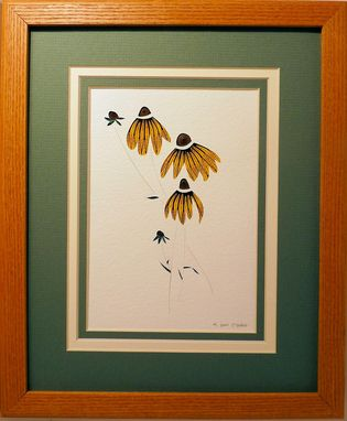 Custom Made Wildflowers - Sunflower Quilled Framed Wall Art Nh Wildflowers