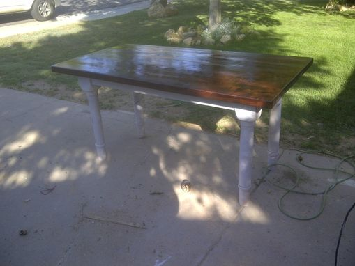 Custom Made Knotty Alder Farm Table