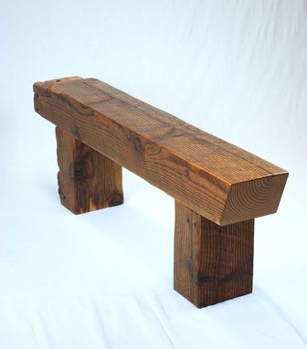 Custom Made Timber Frame Beam Bench
