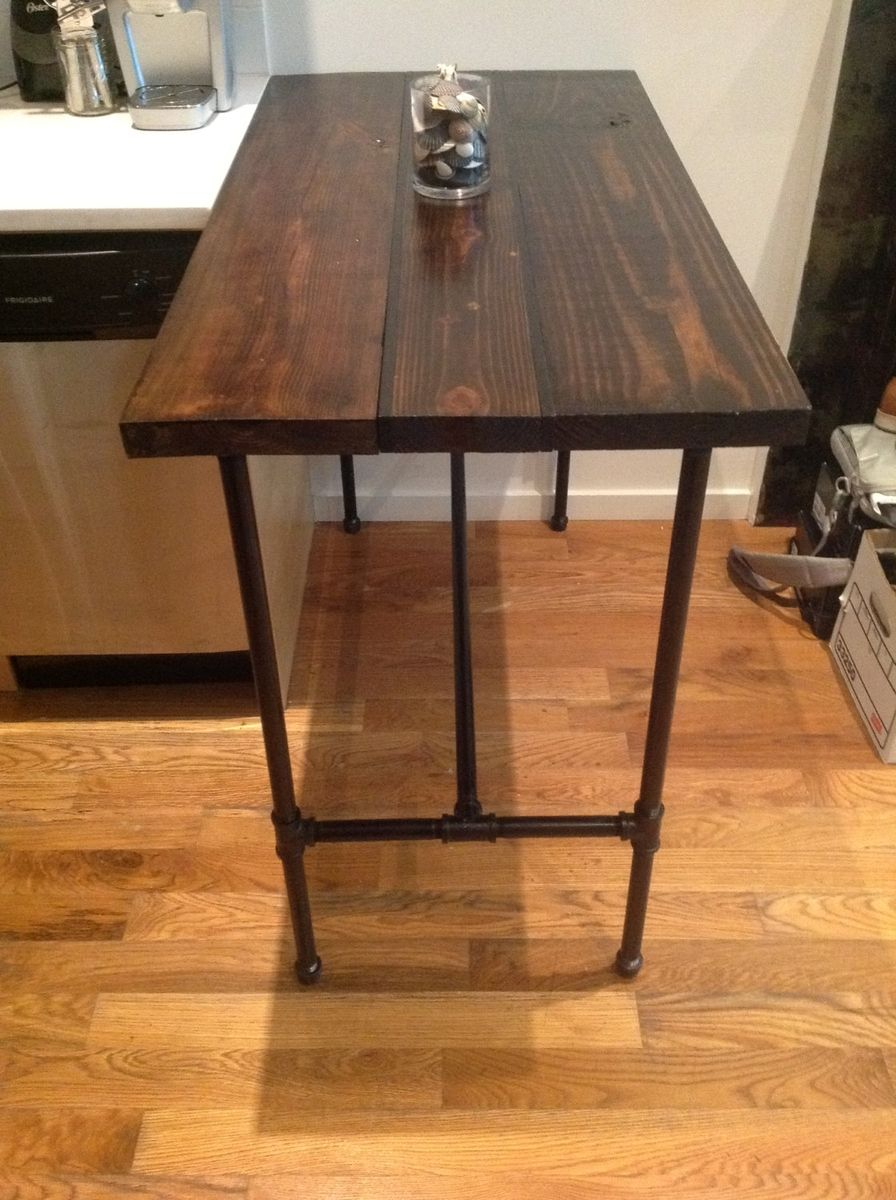 Wood And Black Iron Pipe Table By Reformed CustomMadecom