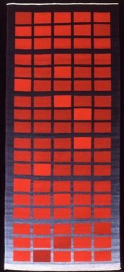 Custom Made Rug: Earth, Fire (Hand-Woven With Hand-Dyed Wool)