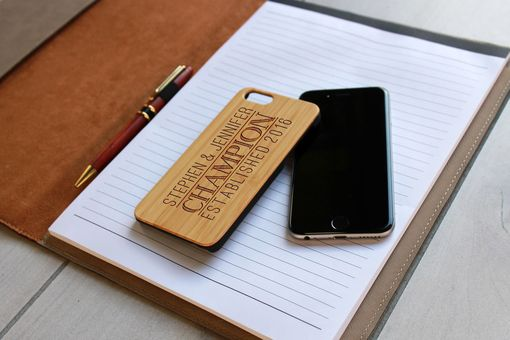 Custom Made Custom Engraved Wooden Iphone 6 Case --Ip6-Bam-Stephen Jennifer Champion