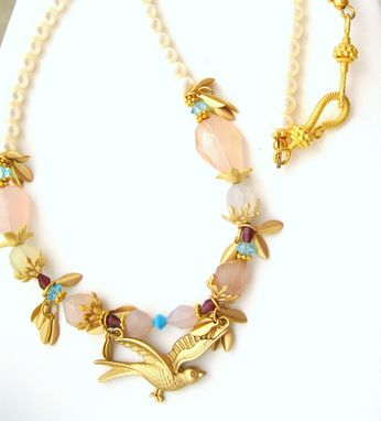 Custom Made Pearls And Chalcedony Nature Necklace