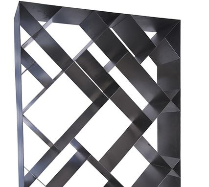 Custom Made Diagonal Modern Metal Bookcase