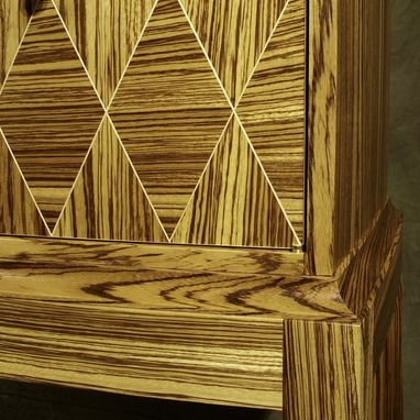 Custom Made Zebra Wood Sideboard