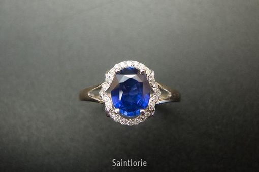 Custom Made 1.7 Carat Sapphire Engagement Ring