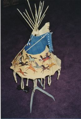 Custom Made Tipi Lamps/ Handpainted
