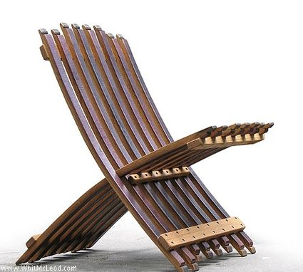 Custom Made Folding Wine Barrel Chair