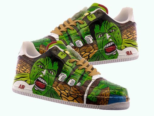 Custom Made Hulk Hand Painted Shoes/ Comic Shoes/Incredible Hulk Shoes