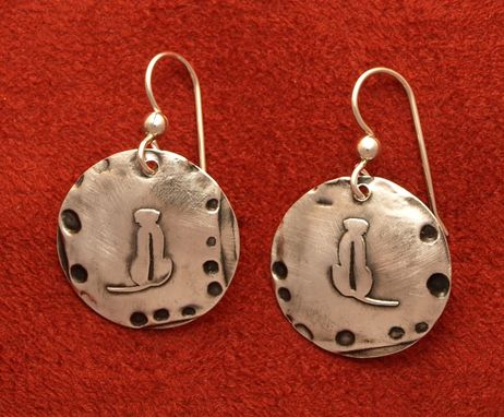 Custom Made Rhodesian Ridgeback Earrings With Abstract Border - Md