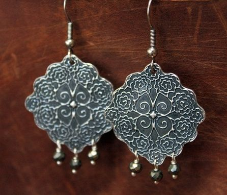 Custom Made Fine Silver - Gypsy Earrings - $75
