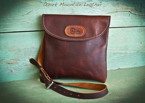 Custom Made Bison Leather Cross Body Bag