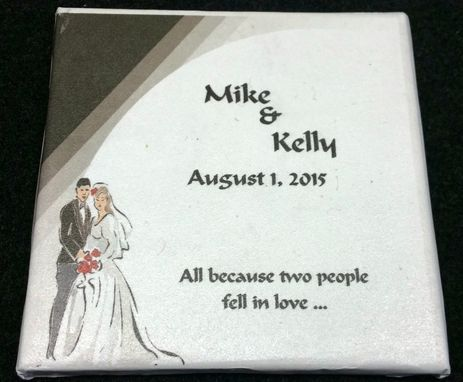 Custom Made Wedding Coasters That Can Be Used For Favors And Table Decorations
