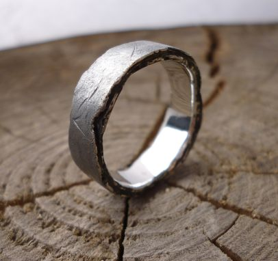 Custom Made Extra Rough Edge Wedding Band
