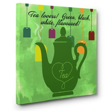 Custom Made Tea Lovers Canvas Wall Art