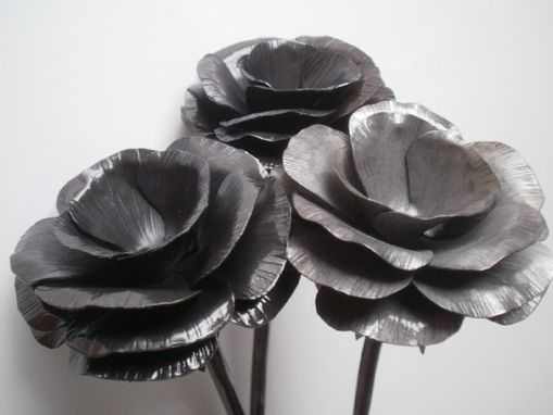 Custom Made Hand Forged Roses