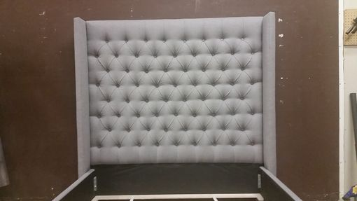 Custom Made Adler Wingback Bed