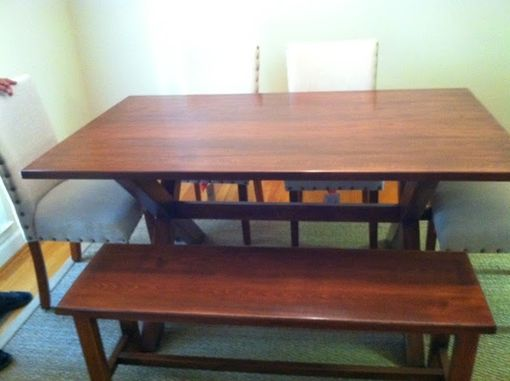 Custom Made X-Legged Dining Table