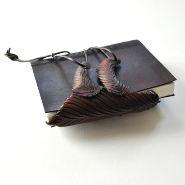 Custom Made Leather Journal With Sloth Clasp