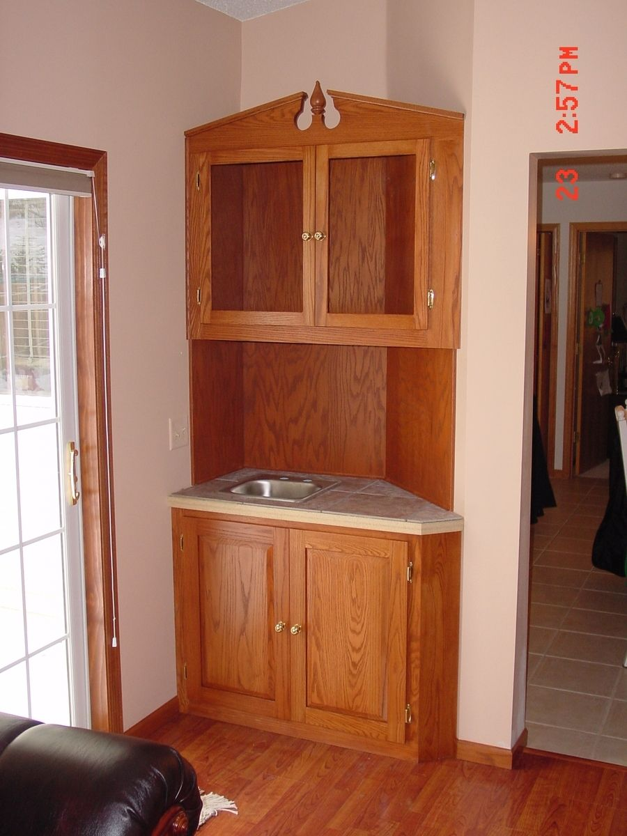 Hand made wet bar cabinet by bbg woodworks - Custom made cabinet ...