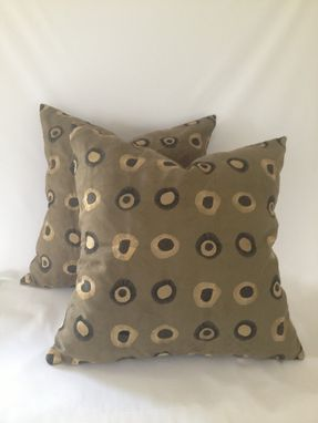 Custom Made Faux Suede Tan And Brown Pillow Cover