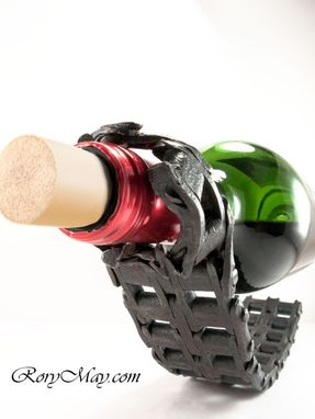 Custom Made Reclaimed Chain Wine Bottle Holder