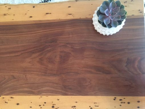 Custom Made Handmade Oak And Locust Coffee Table