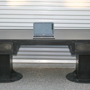 modern industrial desk walnut vintage industrial desk with drawers steel custom sizes reclaimed wood avail urban modern desks office and computer custommadecom