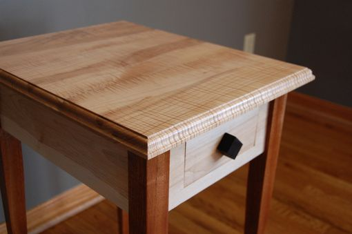 Custom Made Tiger Maple End Table