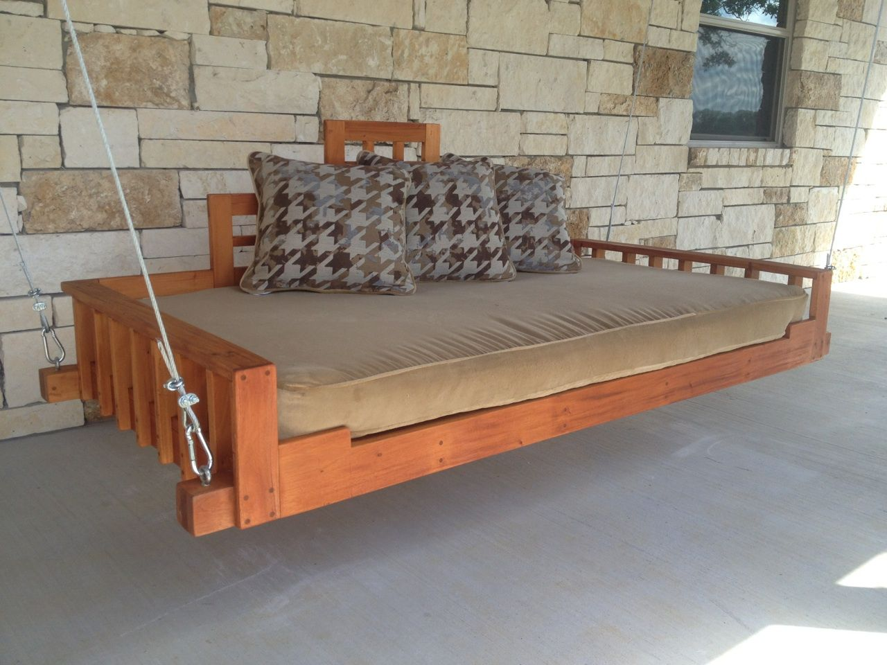 Hand Crafted Outdoor Patio Swing Bed Or Hanging Day Bed By Industrial Envy Llc Custommade Com