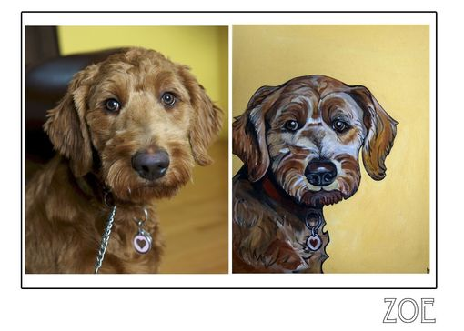 Custom Made Zoe - Pawblo Picasso Pet Paintings