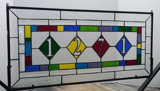 Custom Made Stained Glass Set: Transom And Panels (Am-52)