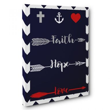 Custom Made Faith Hope Love Canvas Wall Art