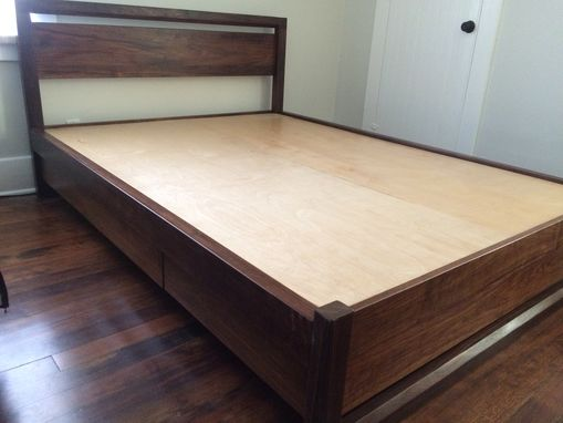 Custom Made Queen Size Walnut Bed