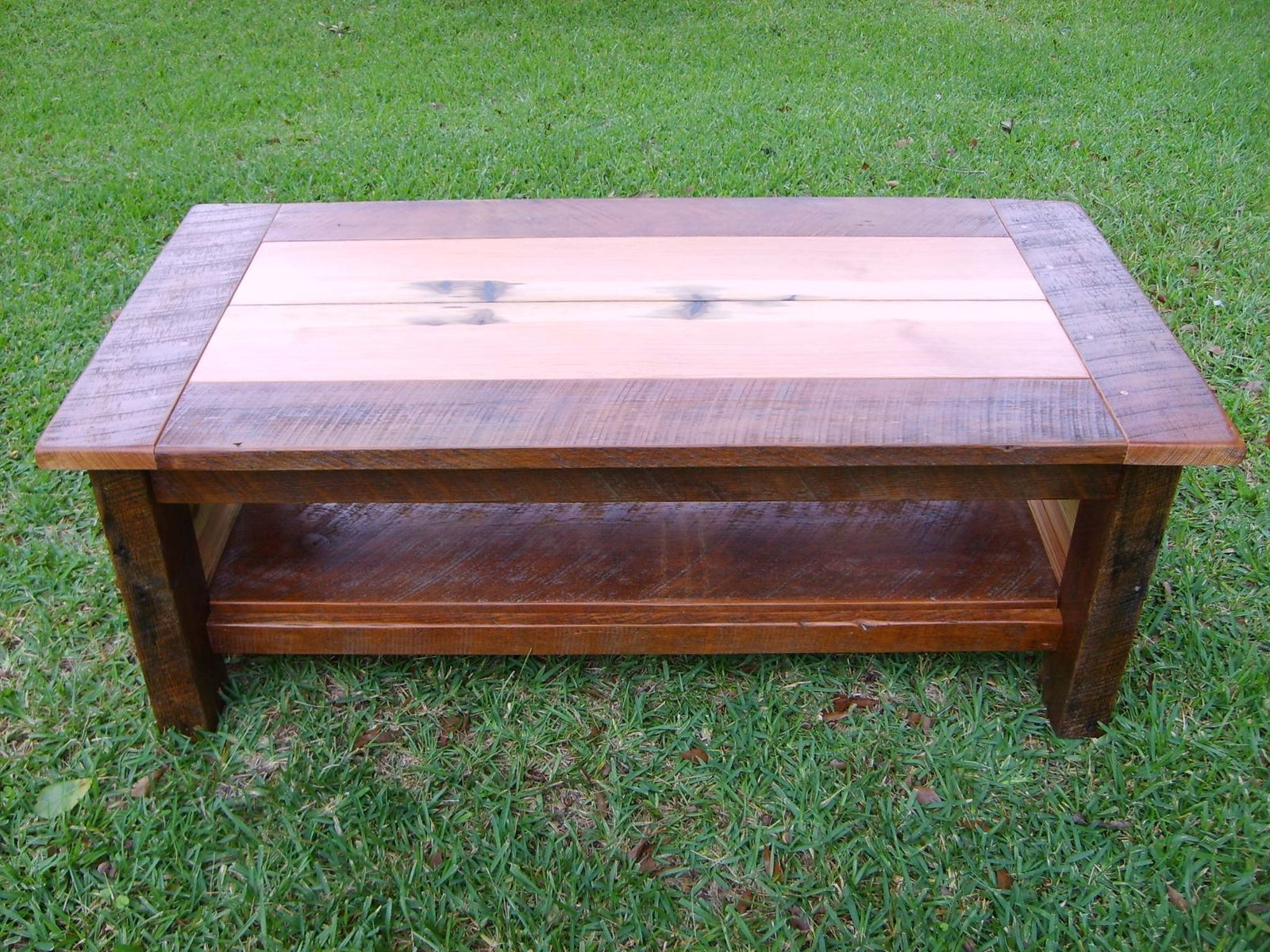 Hand made reclaimed heart pine coffee table by norm s