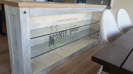 Custom Made Reclaimed Wood Shipwreck Bar