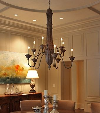 Custom Made Antiqued Italianate Chandelier