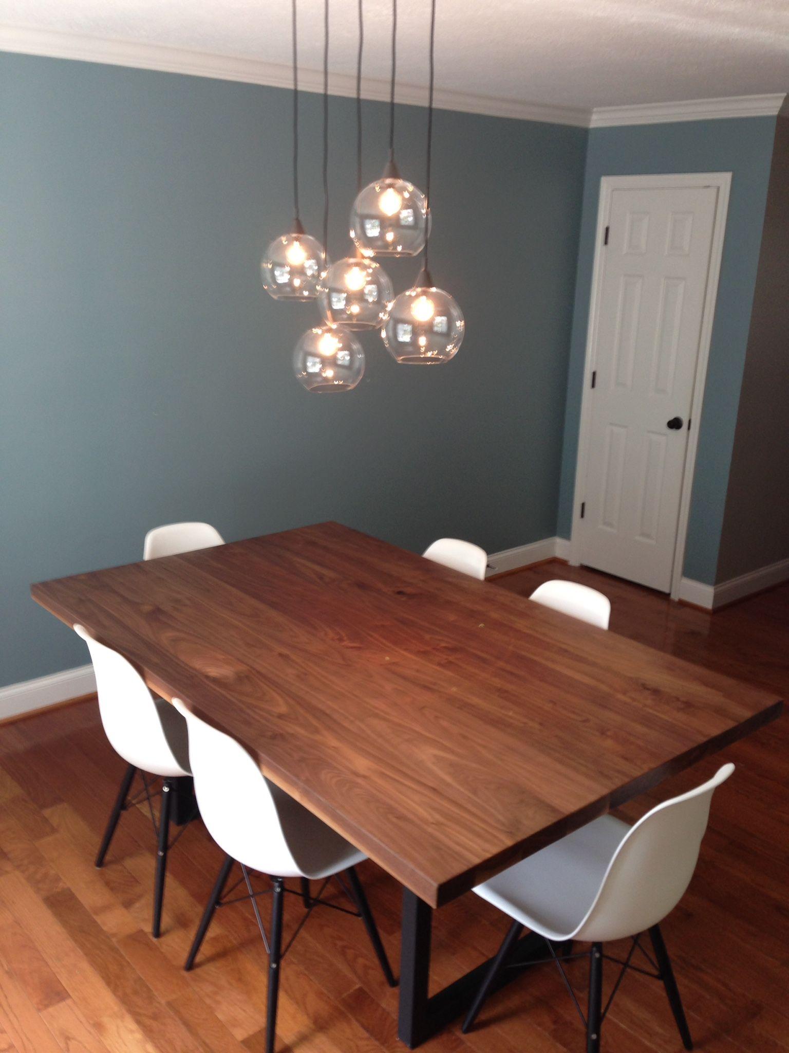 Custom made simple modern elegant dining table