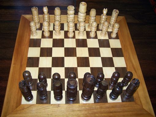 Custom Made Handcrafted Wood Chess Set