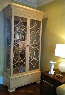 Custom Made A Pair Of Holly And Satinwood Display Cabinets