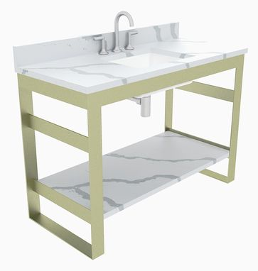 Custom Made Metal Bathroom Vanity Base (Miles)