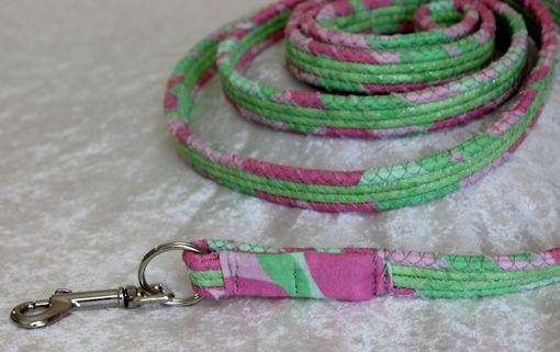 Custom Made Free Shipping - Dog Leash. Fabric Wrapped Clothesline. Medium To Large Sized Dog