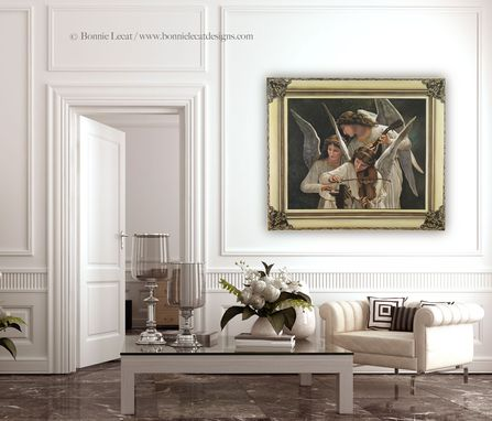 Custom Made Musical Angels - Bougereau Recreation Trompe L'Oeil Mural