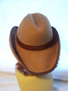 Custom Made Brown Wool Western Style Hat