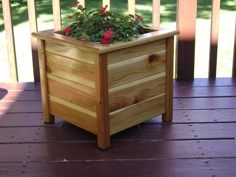Hand Made Planter Box - Cedar Outdoor by JM Wood | CustomMade.com Engraved Wooden Planters on engraved stepping stones, engraved frames, engraved tools, engraved mugs, engraved vases, engraved stools, engraved plaques, engraved benches, engraved pavers, engraved platters,