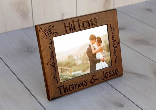 Custom Made Custom Engraved Picture Frames -- Pf-Wal-The Hiltons