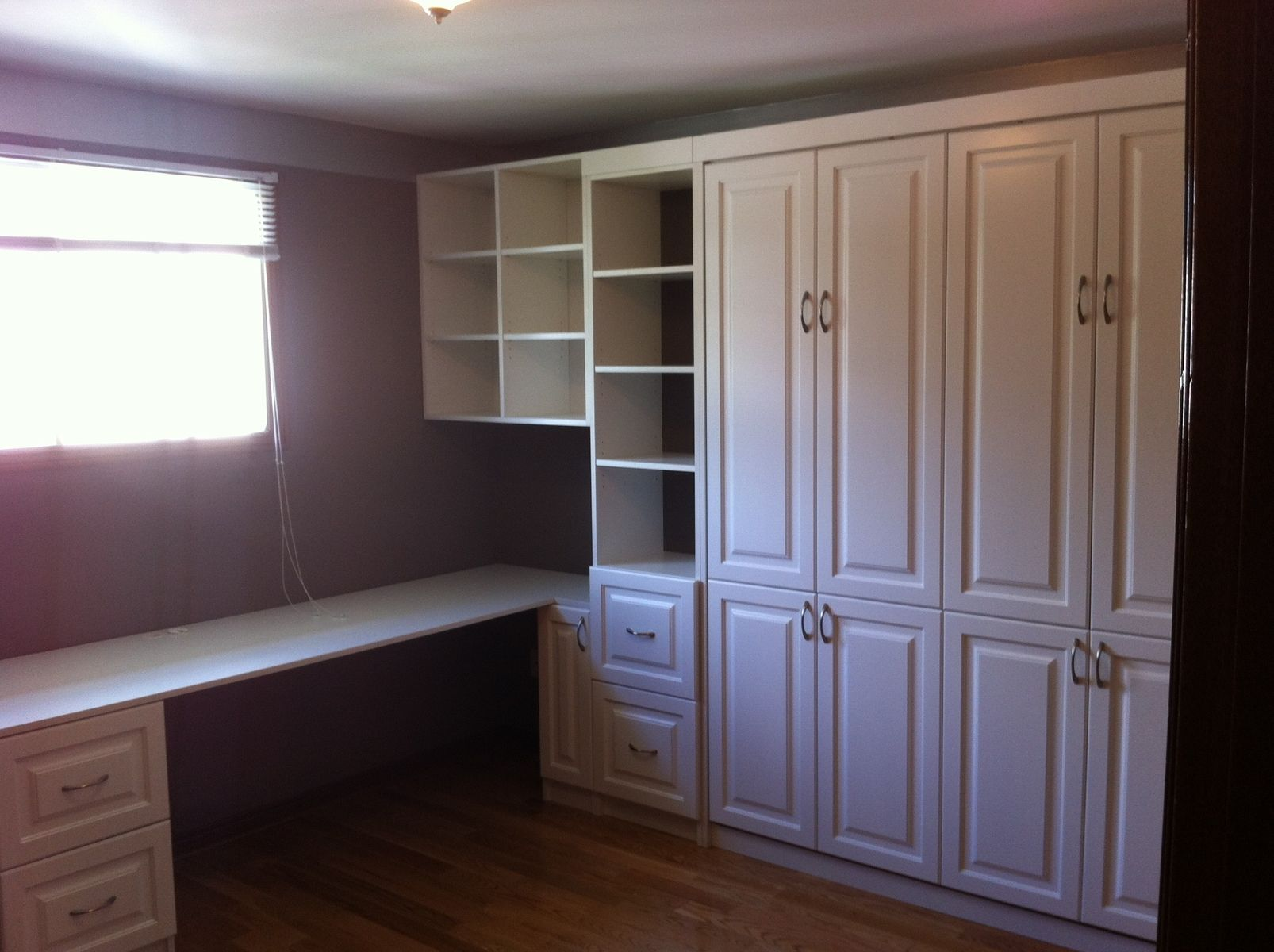 Hand Crafted Custom Home Office Murphy Bed By Motivo Interiors Murphy Beds Kitchens Custom