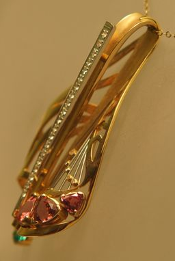 Custom Made Pendant In 14kt Gold And Platinum